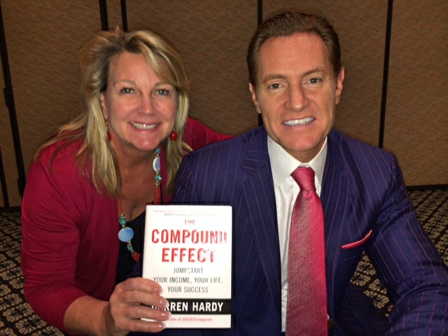 Dr Hoppe and darren hardy with the Compound Effect book
