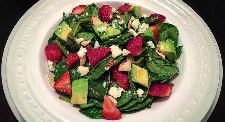 spinach avocado strawberry spring salad dr hoppe